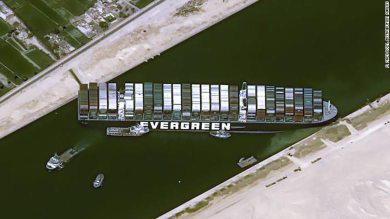 En blokeret Suez-kanal og ses vi senere?
