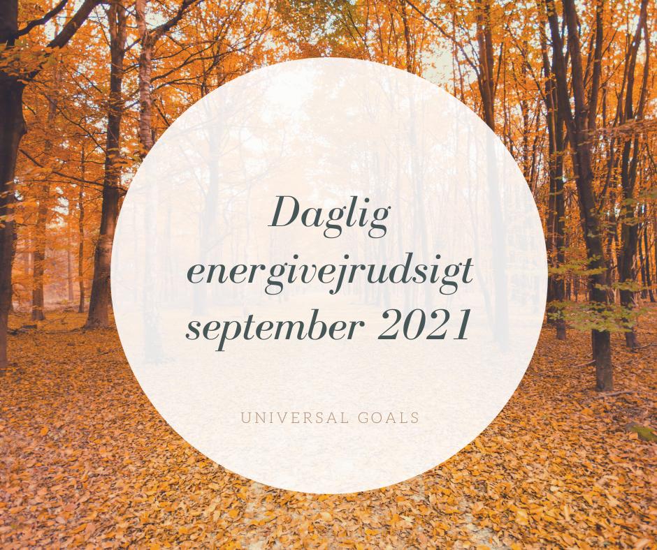 Din daglige energivejrudsigt for september 2021