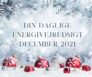 Din daglige energivejrudsigt for december 2021